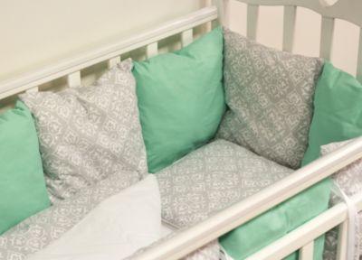 Детское постельное белье 3 предмета By Twinz, Дамаск, мятный, артикул:5045058 - Детский текстиль