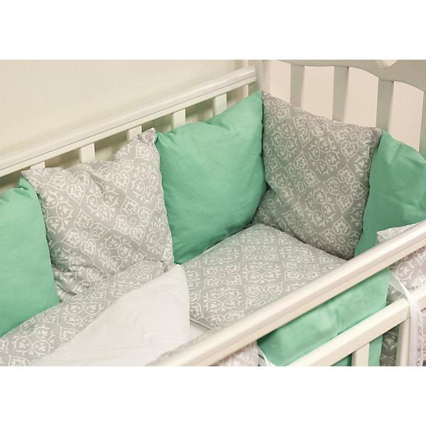 byTwinz Детское постельное белье 3 предмета By Twinz, Дамаск, мятный цена