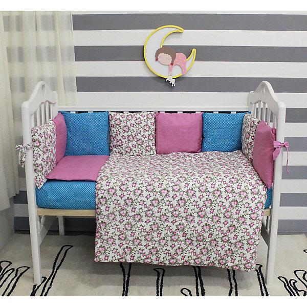 все цены на byTwinz Комплект в кроватку 6 предметов By Twinz, Лаванда онлайн