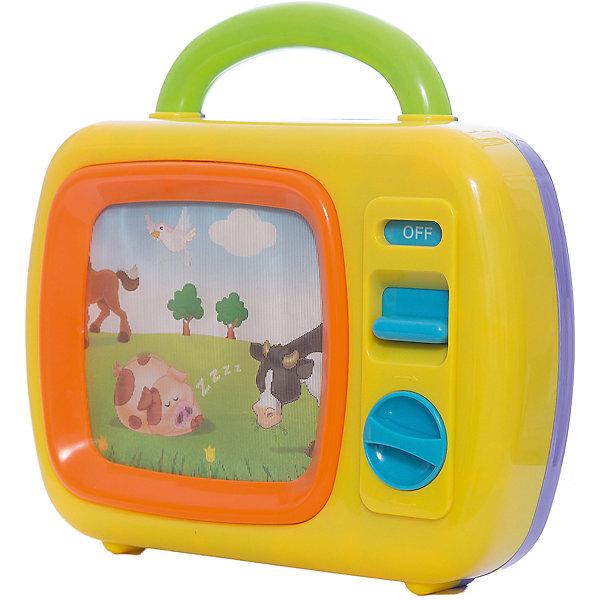 Развивающий центр Телевизор - Животные, PlaygoРазвивающие центры<br>Развивающий центр Телевизор - Животные, Playgo<br><br>Характеристики:<br>- В набор входит: один развивающий центр <br>- Материал: пластик<br>- Размер: 26 * 8,5 * 34 см.<br>Развивающий центр Телевизор - Животные  от известного китайского бренда развивающих игрушек для детей Playgo (Плейго) станет прекрасным подарком для крохи. Теперь, когда у малыша есть собственный телевизор, он сможет смотреть свой любимый канал про животных. Чтобы начать смотреть нужно сначала включить телевизор с помощью кнопки. А затем, нужно завести телевизор по часовой стрелки с помощью рычажка, заиграет музыка и картинка телевизора начнет двигаться. Изготовленная из качественного пластика, разноцветная игрушка способствует развитию тактильных ощущений, звукового восприятия, воображения, цветового восприятия и моторики ручек. Небольшой размер позволит брать эту игрушку на прогулку и в поездку.<br>Развивающий центр Телевизор - Животные, Playgo (Плейго) можно купить в нашем интернет-магазине.<br>Подробнее:<br>• Для детей в возрасте: от 0 до 36 месяцев<br>• Номер товара: 5054069<br>Страна производитель: Китай<br>Ширина мм: 280; Глубина мм: 250; Высота мм: 90; Вес г: 866; Возраст от месяцев: 12; Возраст до месяцев: 36; Пол: Унисекс; Возраст: Детский; SKU: 5054069;