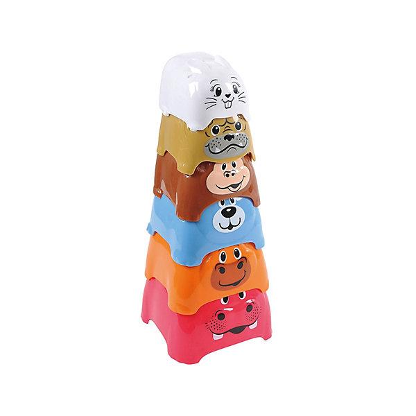 - Активный игровой центр Пирамида c животными, Playgo развивающий центр playgo для самых маленьких