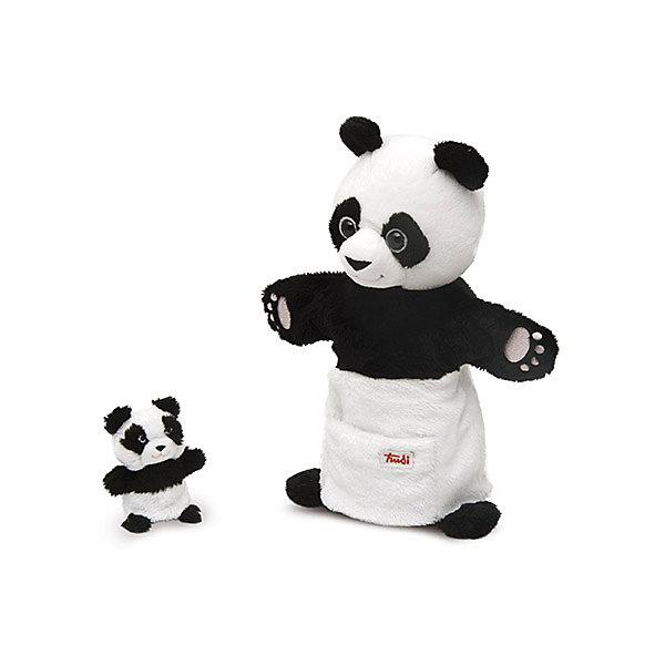Купить мягкая игрушка на руку Панда с детенышем, 28 см, Trudi (5055264) в Москве, в Спб и в России