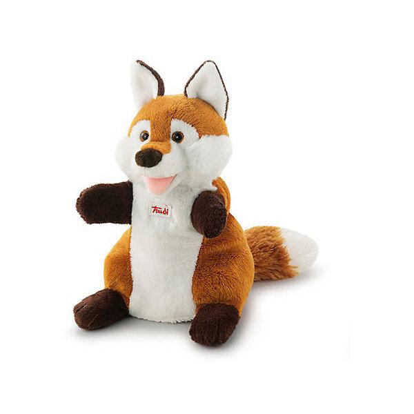 Купить Мягкая игрушка на руку Лиса, 25 см, Trudi, Китай, Унисекс