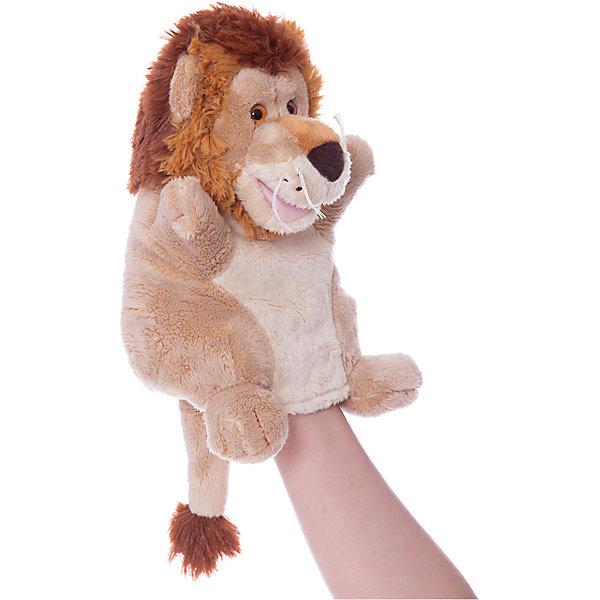 Trudi Мягкая игрушка на руку Лев, 25 см, Trudi trudi мягкая игрушка на рукуtrudi собачка 25 см