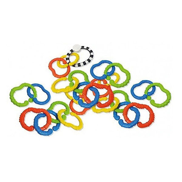 Infantino BKids Игрушка - цепь Веселые колечки, 25 шт,
