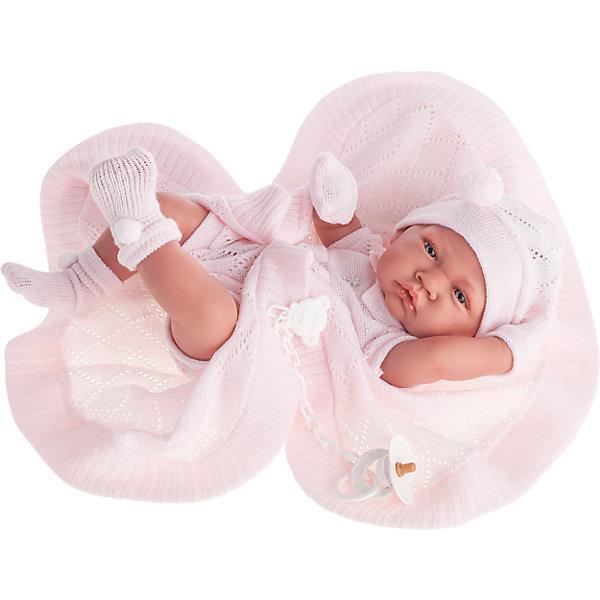 Кукла-младенец Тони, в розовом, 42 см, Munecas Antonio JuanКуклы и аксессуары<br>Кукла-младенец Тони, в розовом, 42 см, Munecas Antonio Juan (Мунекас Антонио Хуан).<br><br>Характеристики:<br><br>- Комплектация: кукла, одеяло, соска<br>- Материал: винил, текстиль<br>- Высота куклы: 42 см.<br>- Глаза не закрываются<br>- Упаковка: яркая подарочная коробка<br><br>Малышка Тони невероятно похожа на настоящего младенца. Анатомическая точность, с которой выполнена кукла, поражает! Выразительные глазки, маленький носик, нежные щечки, пухлые губки, милые «перевязочки» на ручках и ножках придают кукле реалистичный вид и вызывают только самые положительные и добрые эмоции. Тони одета трикотажное боди с короткими рукавами розового цвета, пинетки-носочки, шапочку, рукавички-царапки. В комплекте также предусмотрена одеяло и соска. Кукла изготовлена из высококачественного винила с покрытием софт тач, мягкого и приятного на ощупь. Голова, ручки и ножки подвижны. Кукла соответствует всем нормам и требованиям к качеству детских товаров. Образы малышей Мунекас разработаны известными европейскими дизайнерами. Они натуралистичны, анатомически точны.<br><br>Куклу-младенца Тони, в розовом, 42 см, Munecas Antonio Juan (Мунекас Антонио Хуан) можно купить в нашем интернет-магазине.<br>Ширина мм: 50; Глубина мм: 26; Высота мм: 16; Вес г: 1835; Возраст от месяцев: 36; Возраст до месяцев: 2147483647; Пол: Женский; Возраст: Детский; SKU: 5055422;