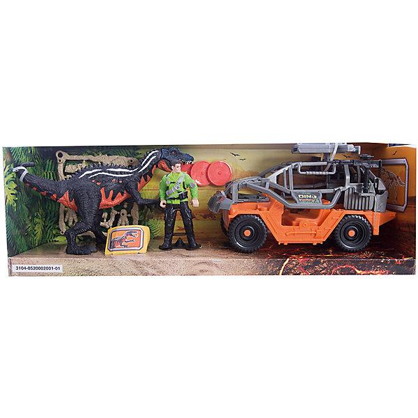 Игровой набор Динозавр Барионикс и охотник на джипе, Chap MeiИгровые наборы с фигурками<br>Игровой набор Динозавр Барионикс и охотник на джипе, Chap Mei.<br><br>Характеристики:<br><br>- В наборе: 2 фигурки, джип с орудием, аксессуары, 3 диска для стрельбы<br>- Высота фигурки охотника: 10 см.<br>- Длина джипа: 21 см.<br>- Материал: пластик<br>- Упаковка: картонная коробка открытого типа<br>- Размер упаковки: 45 х 14 х 15 см.<br><br>Игровой набор Chap Mei Динозавр Барионикс и охотник на джипе непременно придется по душе вашему малышу и отлично подойдет для сюжетно-ролевых игр. Голова фигурки охотника поворачивается, руки и ноги двигаются. У фигурки динозавра подвижные конечности, пасть открывается. Фигурка охотника легко помещается в мощный джип. У машины большие ребристые колеса со свободным ходом. Верх кабины дополнен пушкой, которая стреляет дисками. В наборе имеются три диска для орудия. Игровой набор способствует развитию у ребенка мелкой моторики, хватательного рефлекса, осязания и координации движений. Игрушка разовьет интерес ребенка к изучению живого мира нашей планеты.<br><br>Игровой набор Динозавр Барионикс и охотник на джипе, Chap Mei можно купить в нашем интернет-магазине.<br>Ширина мм: 45; Глубина мм: 13; Высота мм: 15; Вес г: 731; Возраст от месяцев: 36; Возраст до месяцев: 2147483647; Пол: Мужской; Возраст: Детский; SKU: 5055431;