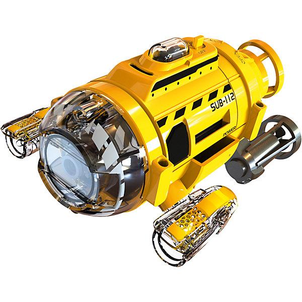Подводная лодка ИК с камерой, SilverlitРадиоуправляемые машины<br>Подводная лодка ИК с камерой, Silverlit.<br><br>Характеристики:<br><br>- Комплектация: подводная лодка со встроенной камерой, пульт управления, USB-кабель, аксессуары<br>- Материал: пластик, металл<br>- Размер подводной лодки: 11 х 6.5 см.<br>- Батарейки для подводной лодки: 2 x AAA / LR0.3 1.5V (не входят в комплект)<br>- Батарейки для пульта: 3 x AAA / LR0.3 1.5V (не входят в комплект)<br>- Количество каналов управления: 3<br>- Размер встроенной памяти камеры: 256 Мб<br>- Разрешение фотографий: 1280 х 960 пикселей<br>- Разрешение видео: 640 х 480 VGA<br>- Количество прожекторов: 2<br>- Упаковка: картонная коробка блистерного типа<br><br>Подводная лодка с камерой на ИК-управлении от производителя Silverlit подарит возможность почувствовать себя настоящим исследователем. С такой игрушкой ребенок сможет узнать много нового об обитателях мелких водоемов. Небольшая подводная лодка со встроенной камерой снимает видео и делает фотографии хорошего качества. Пульт управления и фонарик, который крепится на лодку перед камерой, позволяют снимать на большей глубине или в темноте. Лодка оснащена встроенной памятью в 256 Мегабайт, что позволит снять проводить довольно длительную съемку. Подключившись к компьютеру с помощью USB кабеля, можно сохранит отснятый материал. Продукция сертифицирована, экологически безопасна для ребенка, использованные красители не токсичны и гипоаллергенны.<br><br>Подводную лодку ИК с камерой, Silverlit можно купить в нашем интернет-магазине.<br>Ширина мм: 203; Глубина мм: 101; Высота мм: 342; Вес г: 614; Возраст от месяцев: 36; Возраст до месяцев: 2147483647; Пол: Унисекс; Возраст: Детский; SKU: 5059842;