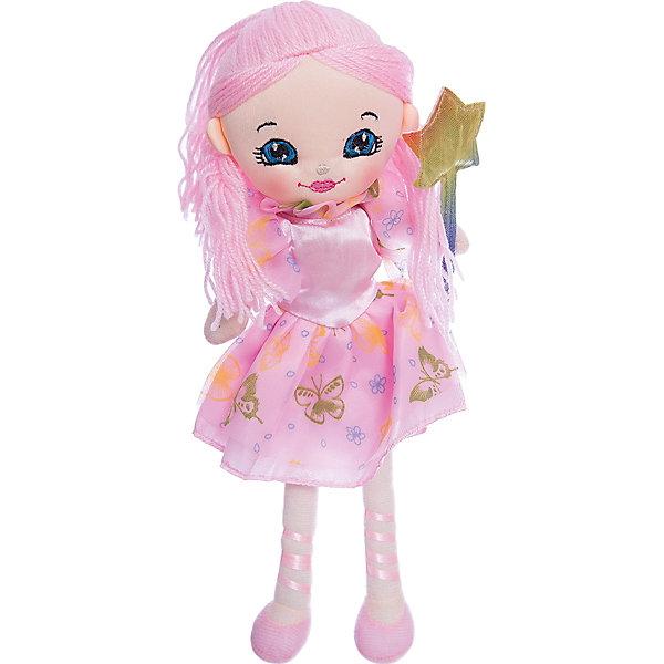 Кукла Фея, 35 см, Tiny LoveМягкие куклы<br>Кукла Фея, 35 см, Tiny Love.<br><br>Характеристики:<br><br>- Материал: текстиль, наполнитель<br>- Высота игрушки: 35 см.<br><br>Кукла Фея обязательно понравится Вашей малышке! Кукла Фея одета в прекрасное розовое платье с пышными юбочкой и воротничком, которые сшиты из легкой летящей ткани. На ногах куколки несъемные текстильные балетки, напоминающие пуанты балерины. В руках феечка держит волшебную палочку с наконечником в виде звезды — именно с ее помощью она исполняет желания! Кукла полностью выполнена из текстиля, поэтому играть с этой игрушкой может даже самая юная поклонница сказочных фей!<br><br>Куклу Фея, 35 см, Tiny Love можно купить в нашем интернет-магазине.<br>Ширина мм: 120; Глубина мм: 350; Высота мм: 50; Вес г: 83; Возраст от месяцев: 36; Возраст до месяцев: 2147483647; Пол: Унисекс; Возраст: Детский; SKU: 5059846;