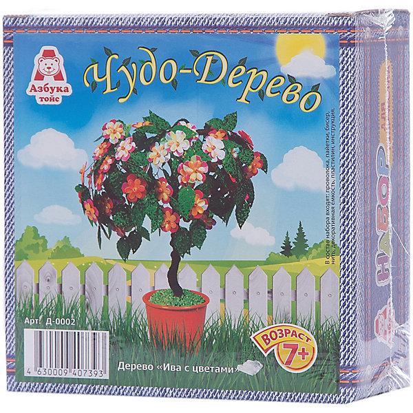 Чудо-дерево Ива с цветамиКартины пайетками<br>Характеристики товара:<br><br>• возраст: 7+<br>• масса: 232 г<br>• комплектация: проволока, пайетки, бисер, шерстяная нить, декоративный стаканчик, пластилин, инструкция<br>• габариты: 140 х 50 х 140 мм<br>• упаковка: коробка<br>• страна бренда: РФ<br>• страна изготовитель: РФ<br><br>Творчество – отличный способ занять ребенка и развить его способности. В этом наборе содержится всё для того, чтобы можно было своими руками сделать красиве дерево! В результате у ребенка будет красивый элемент декора, который можно использовать для украшения своей комнаты. Такой вид времяпровождения развивает мелкую моторику , усидчивость, внимательность, творческие способности и аккуратность у детей. <br>Набор станет отличным подарком ребенку, так как он сможет сам сделать красивую вещь для себя или в качестве подарка близким! Материалы, использованные при изготовлении товара, сертифицированы и отвечают всем международным требованиям по качеству. <br><br>Чудо-дерево Ива с цветами от бренда Азбука Тойс можно приобрести в нашем интернет-магазине.<br>Ширина мм: 140; Глубина мм: 50; Высота мм: 140; Вес г: 232; Возраст от месяцев: 84; Возраст до месяцев: 144; Пол: Женский; Возраст: Детский; SKU: 5062828;