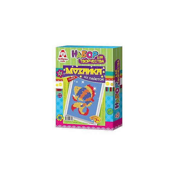 Картина из пайеток РыбкаКартины пайетками<br>Картина из пайеток Рыбка.  <br><br>Характеристики:<br><br>• Размеры 28х21х5 см.<br>• В комплект входит:<br>- пенопластовая основа,<br>- цветная схема,<br>- сборная рамка;<br>- пайетки,<br>- пины - гвоздики,<br>- инструкция.<br><br>Пайетки - это блестящие кружочки разного цвета, при помощи которых, можно создавать красивые блестящие картины в виде мозаики Пайетка прикалывается к основе при помощи булавочки-гвоздика. Занятие с набором Мозаика из пайеток развивает творческие способности, воображение, концентрацию внимания, мелкую моторику, аккуратность и усидчивость. Такая картина станет украшением вашего дома или станет прекрасным подарком. Желаем Вам приятной творческой работы!<br><br>Картину из пайеток Рыбка, можно купить в нашем интернет – магазине.<br>Ширина мм: 210; Глубина мм: 50; Высота мм: 280; Вес г: 184; Возраст от месяцев: 84; Возраст до месяцев: 144; Пол: Унисекс; Возраст: Детский; SKU: 5062971;