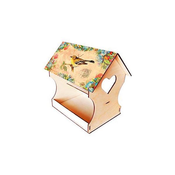 Кормушка для птиц  ДекупажЗаготовки для декупажа<br>Кормушка для птиц Декупаж, Азбука Тойс<br><br>Характеристики:<br><br>• красивый дизайн готовой кормушки<br>• легко собрать<br>• в комплекте: заготовка из дерева, декупажная карта, белая акриловая краска, коричневая акриловая краска, клей ПВА, файл, кисть, спонж, наждачная бумага, шнур, перчатки инструкция<br>• размер упаковки: 28х5х21 см<br>• вес: 400 грамм<br><br>Забота о природе очень важна в любом возрасте. С помощью набора Декупаж вы сможете помочь ребенку создать красивую кормушку для птиц. В набор входит всё необходимое для этого. Крышу кормушки украсит картинка с изображением птичек. В комплекте вы найдете прочный шнур, на который можно повесить готовую кормушку. Научите ребенка творить добро!<br><br>Вы можете купить кормушку для птиц Декупаж, Азбука Тойс в нашем интернет-магазине.<br>Ширина мм: 210; Глубина мм: 50; Высота мм: 280; Вес г: 400; Возраст от месяцев: 84; Возраст до месяцев: 144; Пол: Унисекс; Возраст: Детский; SKU: 5062975;