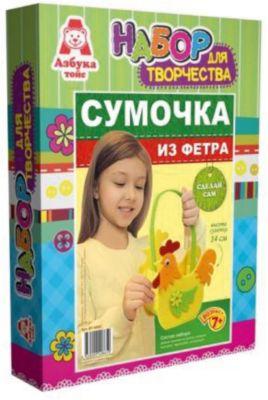 Сумочка из фетра  Петушок , артикул:5062978 - Рукоделие и поделки