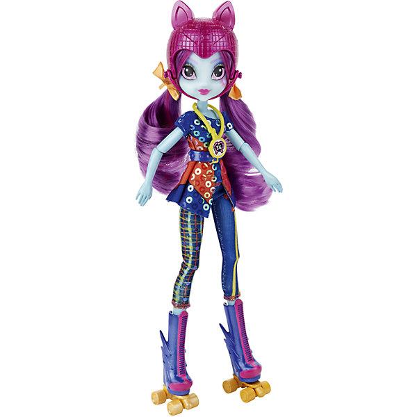 Кукла Санни Флер, Шедоуболт, с аксессуарами, Эквестрия герлзИгрушки<br>Характеристики куклы Шедоуболт, с аксессуарами, Эквестрия герлз:<br><br>- возраст: от 5 лет<br>- герой: Мои Маленькие Пони / My Little Pony<br>- пол: для девочек<br>- комплект : кукла, аксессуары.<br>- материал : пластик, текстиль.<br>- размер упаковки: 31 * 5 * 23 см.<br>- упаковка: картонная коробка блистерного типа.<br>- страна обладатель бренда: США.<br><br>Кукла Санн Флэр из серии Эквестрия Герлз Темномолнии представлена известной торговой маркой игрушек Hasbro (Хасбо). Кукла-роллер Санни Флер стройная и спортивная , она всегда двигается вперед и достигает отличных результатов. Кукла одета в яркий молодежный комплект, стильные брючки и пеструю кофточку, подпоясанную модным ремнем. На голове у нее шлем, на ногах оригинальные ролики, колеса которых крутятся. На шее красотки, красуется медаль чемпиона.<br>У куклы милое лицо и чарующие глаза, ее длинные волосы можно расчесывать, формируя новые, удобные для спортивных занятий, прически. Шарнирные вставки, находящиеся в локтях и коленях куклы, позволяют ей сгибать ручки и ножки, принимая артистичные позы.<br><br>Куклу Шедоуболт, с аксессуарами, Эквестрия герлз, можно купить в нашем интернет-магазине.<br>Ширина мм: 50; Глубина мм: 228; Высота мм: 305; Вес г: 319; Возраст от месяцев: 60; Возраст до месяцев: 144; Пол: Женский; Возраст: Детский; SKU: 5064166;