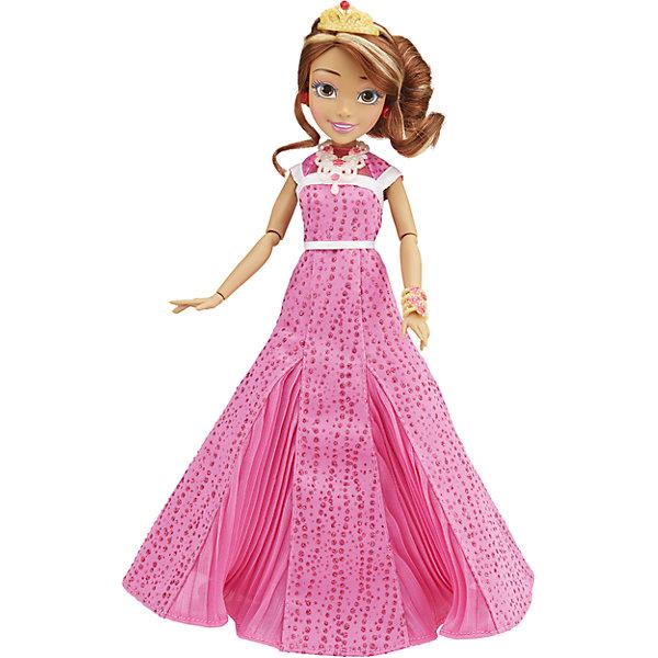 Кукла Одри, светлые герои в платьях для коронации, Наследники, DisneyИгрушки<br>Светлые герои в платьях для коронации, Наследники, Disney, B3123/B3124.<br><br>Характеристики:<br><br>- В наборе: 1 кукла в платье для коронации, диадема, браслет, сумочка, кольцо для девочки<br>- Высота куклы: 27,5 см.<br>- Материал: высококачественный пластик, текстиль<br><br>Замечательная кукла Одри станет приятным подарком для девочки - поклонницы мультфильма «Наследники». Кукла выполнена с соблюдением внешних особенностей диснеевской героини Одри, дочери Авроры и Принца Филлипа, и одета в праздничное платье для коронации. На ней длинное розовое платье. На ногах - серебристые босоножки с нарисованной ласточкой, которые сочетаются с сумочкой. На руке - красивый браслет. У куклы красивые густые волосы, которые можно расчесывать и заплетать. Волосы уложены в прическу, на голове красуется диадема. Макияж Одри подчеркивает выразительность глаз, а длинные нарисованные реснички делают взгляд проницательным и ярким. А еще вашу малышку ждет приятный сюрприз - в набор входит золотистое колечко с гербом, которое она сможет носить на своей руке. Кукла имеет шарнирное соединение в 11 точках артикуляции, и может принимать любую позу. Игрушка выполнена из качественных, нетоксичных материалов, сертифицированных для производства детских товаров. Используемые красители безопасны для ребёнка.<br><br>Набор Светлые герои в платьях для коронации, Наследники, Disney, B3123/B3124 можно купить в нашем интернет-магазине.<br>Ширина мм: 63; Глубина мм: 253; Высота мм: 330; Вес г: 393; Возраст от месяцев: 72; Возраст до месяцев: 168; Пол: Женский; Возраст: Детский; SKU: 5064677;