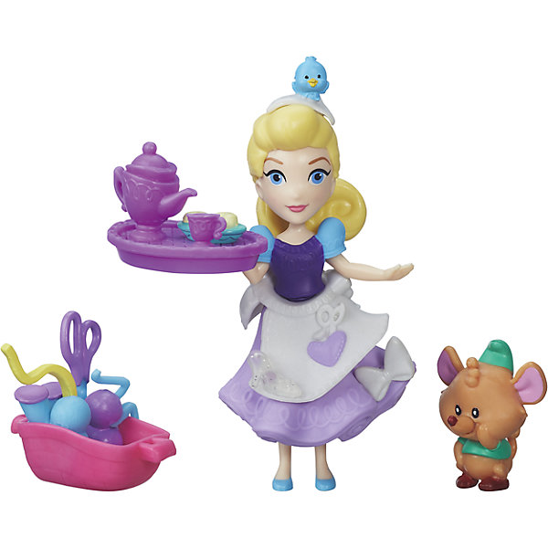 Игровой набор Маленькая кукла Принцесса и ее друг Золушка и мышонок Гас, B5331/B5333Игровые наборы с фигурками<br>Игровой набор Маленькая кукла Принцесса и ее друг, B5331/B5333.<br><br>Характеристики:<br><br>- В наборе: кукла Золушка; фигурка Гаса; 7 аксессуаров<br>- Материал: высококачественный пластик<br>- Высота куклы: 7,62 см.<br>- Размер упаковки: 3,8х15,2х15,2 см.<br>- Вес упаковки: 79 г.<br><br>В миниатюрный игровой набор Маленькая кукла Принцесса и ее друг входит фигурка принцессы Золушки, ее питомец мышонок Гас, а также различные аксессуары и небольшие детали-украшения, которыми можно декорировать платье принцессы. Для этого в платье предусмотрены специальные отверстия. Кукла Золушка одета в пластмассовый корсет, баску и юбку, которые можно снимать. Принцесса-хозяюшка Золушка и ее друг веселый мышонок Гас постоянно заняты. Мышонок Гас любит сидеть в корзинке со швейными принадлежностями, когда принцесса занята созданием нового нарядного платья. А после работы друзья могут устроить веселое чаепитие. Все принадлежности для него уже готовы, и юной владелице такого набора остается только пустить в ход свою фантазию. Кукла Золушка может стоять и сидеть.<br><br>Игровой набор Маленькая кукла Принцесса и ее друг, B5331/B5333 можно купить в нашем интернет-магазине.