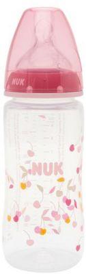 Бутылочка First Choice Plus пласт. (ПП) 300 мл с сил. соской М р-р 1, NUK, розовый, артикул:5065246 - Кормление малыша