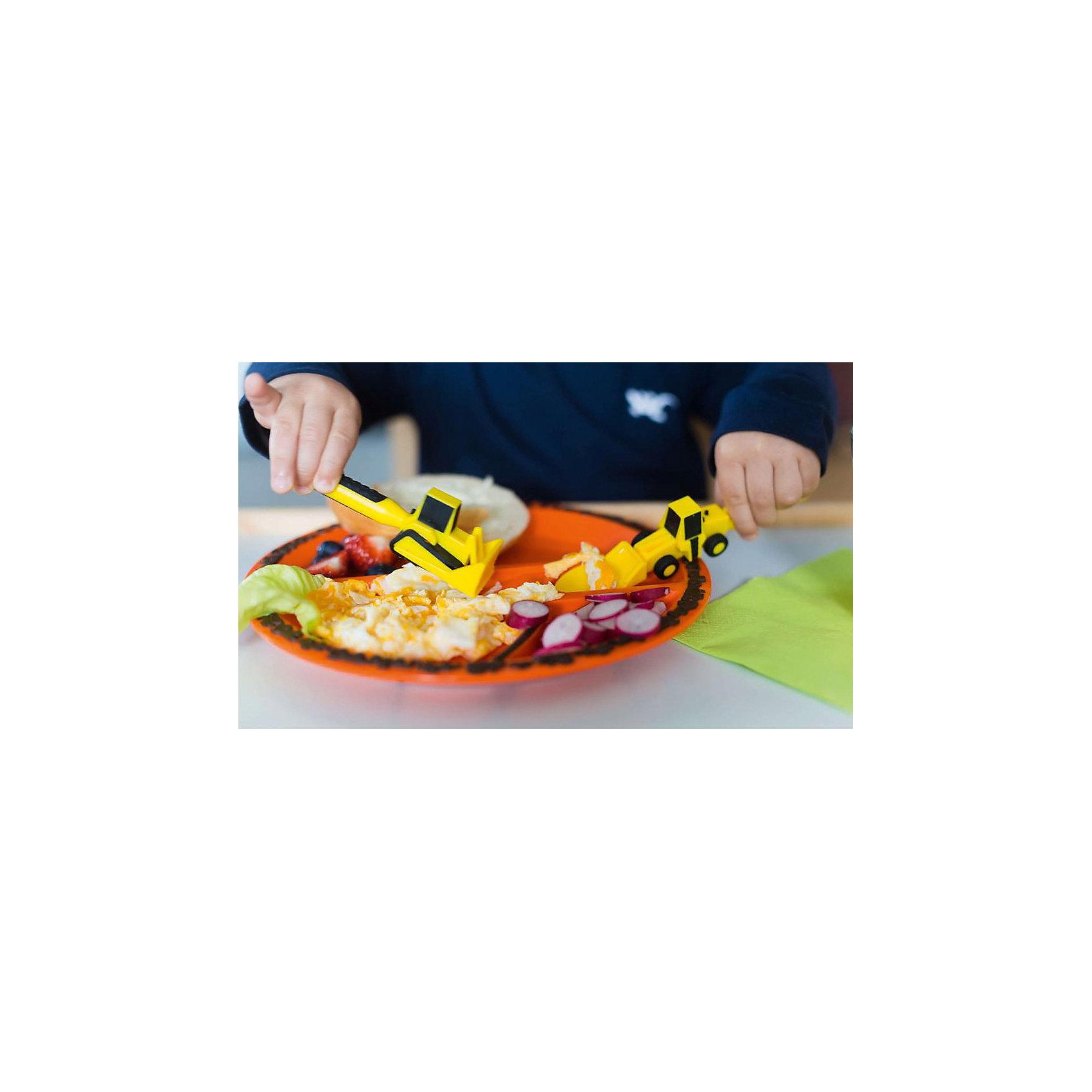 Тарелка Строительная серия, Constructive Eating, оранжевый (Constructive eating)