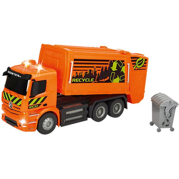 Dickie Toys Радиоуправляемая мусоровоз Dickie Toys Мусоровоз Mercedes-Benz Antos, 1:26
