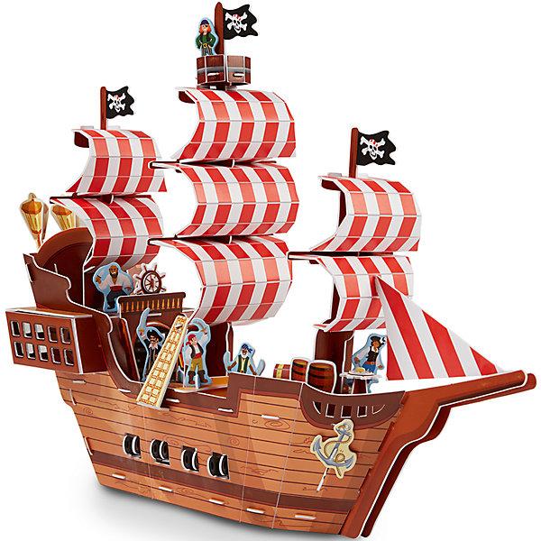 3D пазл Пиратский корабль, Melissa &amp; Doug3D пазлы<br>3D пазл Пиратский корабль, Melissa &amp; Doug (Мелисса и Даг).<br><br>Характеристики:<br><br>- В наборе: более 100 деталей из пенного материала<br>- Длина собранного корабля: 38 см.<br>- Размер упаковки: 42х29х2 см.<br>- Вес: 540 гр.<br><br>3D пазл Пиратский корабль от бренда Melissa&amp;Doug (Мелисса и Даг) поможет вашему малышу построить потрясающее пиратское судно и придумать множество сюжетно-ролевых игр. Благодаря простой инструкции корабль легко собирается из отдельных элементов по принципу объемного пазла. Для сборки не требуются ножницы и клей: все детали оснащены специальными выемками для соединения, каждая деталь имеет свой номер. Готовое изделие представляет собой многоуровневый пиратский корабль с яркими парусами, черными флагами, просторной палубой и оборудованными каютами. В комплекте есть фигурки пиратов и попугая, сундук с сокровищами, пушки, гребная лодка, мебель, оригинальные декорации и даже небольшой остров. Ваш ребенок будет с удовольствием устраивать морские сражения, переживать шторм и искать клад на необитаемом острове. Все детали выполнены из высококачественного материала и раскрашены нетоксичными красками. Сборка 3D пазла способствует развитию моторики, координации движений, концентрации внимания, воображения и усидчивости.<br><br>3D пазл Пиратский корабль, Melissa &amp; Doug (Мелисса и Даг) можно купить в нашем интернет-магазине.<br>Ширина мм: 420; Глубина мм: 20; Высота мм: 290; Вес г: 544; Возраст от месяцев: 72; Возраст до месяцев: 2147483647; Пол: Мужской; Возраст: Детский; SKU: 5074357;