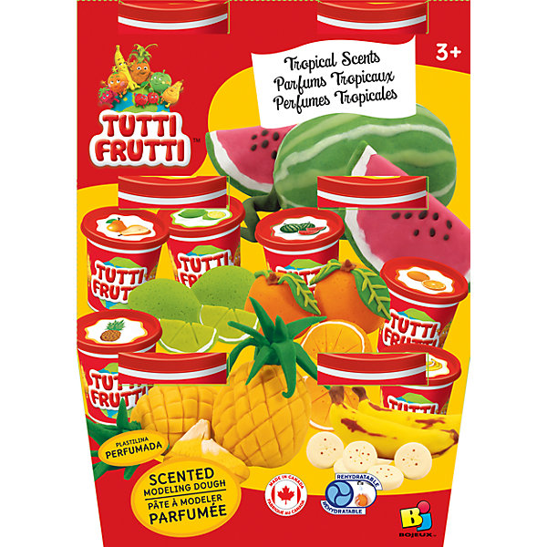 Tutti Frutti Набор массы для лепки Тропический (6х128G)