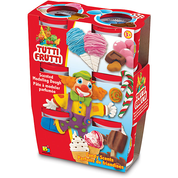 Tutti Frutti Набор массы для лепки Сладости (6х128G) масса для лепки гамма малыш 15 цветов 211218 05