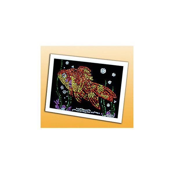 Мозаика из пайеток Золотая рыбкаКартины пайетками<br>Набор для детского творчества «Мозайка из пайеток» дарит возможность составить рисунок с бабочкой из пайеток. Пайтеки – это блестка, плоская чешуйка из блестящего материала, обычно круглой или многогранной формы и с отверстием для продевания нитки. Пайетка может иметь различную окраску. <br>Набор способствует развитию фантазии ребенка, мелкой моторики рук. Тренирует усидчивость и терпение, так как приходится работать с достаточно мелкими деталями. Подойдет как для домашних занятий творчеством так и для школьных.<br>Ширина мм: 375; Глубина мм: 34; Высота мм: 277; Вес г: 318; Возраст от месяцев: 36; Возраст до месяцев: 108; Пол: Унисекс; Возраст: Детский; SKU: 5075360;