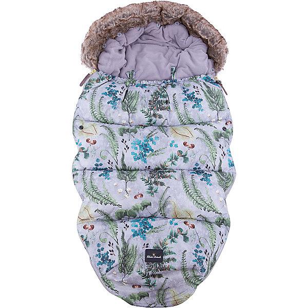 Elodie Details Конверт зимний с опушкой в коляску Forest Flora, Elodie Details конверт детский altabebe altabebe конверт в коляску зимний lambskin car seat bag синий