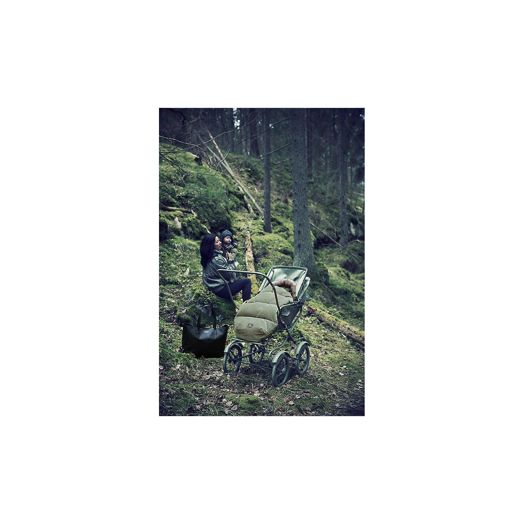 Конверт зимний с опушкой в коляску Woodland Green, Elodie Details
