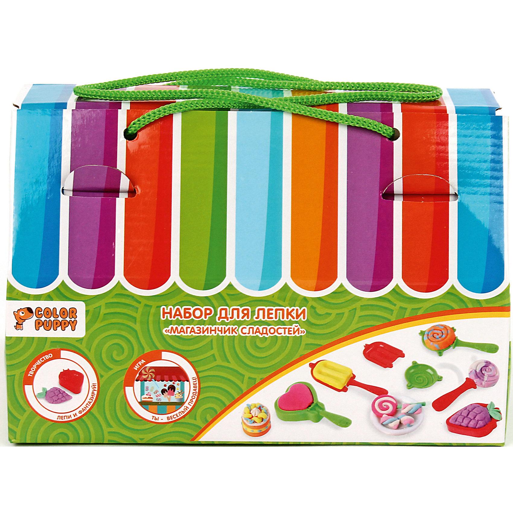 """Набор для лепки """"Магазинчик сладостей"""", тесто 120 г Color Puppy"""