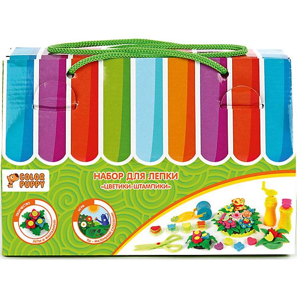Color Puppy Набор для лепки Цветики-штампики тесто 240 г