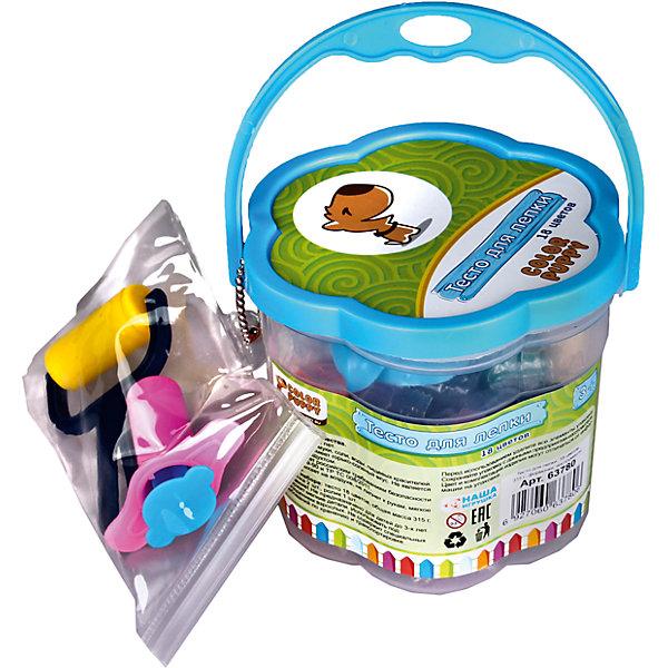 Тесто для лепки: 18 цветов, 315г, формочки, инструменты Color Puppy