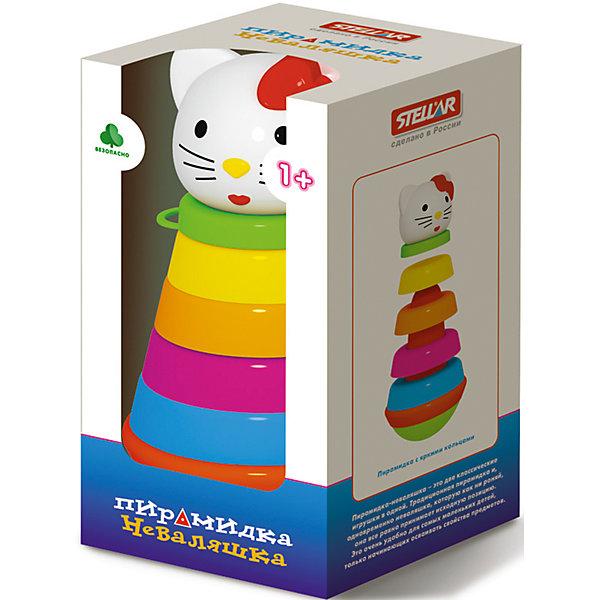 Пирамидка Неваляшкав коробке, StellarРазвивающие игрушки<br>Характеристики товара:<br><br>- цвет: разноцветный;<br>- материал: пластик;<br>- развивающая;<br>- возраст: от 1 года;<br>- размер: 11x11x24 см.<br><br>Пирамидки могут не только развлекать малыша, но и помогать его всестороннему развитию. Этот набор предназначен для формирования разных навыков, он помогает развить тактильное восприятие, мелкую моторику, воображение, цветовосприятие, внимание и логику. Также пирамидка дополнена особым основанием, с помощью которого в собранном виде становится игрушкой-неваляшкой. <br>С такой игрушкой детям очень нравится проводить время! Изделие произведено из качественных материалов, безопасных для ребенка.<br><br>Пирамидку Неваляшка в коробке от бренда Stellar можно купить в нашем интернет-магазине.<br>Ширина мм: 110; Глубина мм: 110; Высота мм: 210; Вес г: 375; Возраст от месяцев: 12; Возраст до месяцев: 2147483647; Пол: Унисекс; Возраст: Детский; SKU: 5079960;