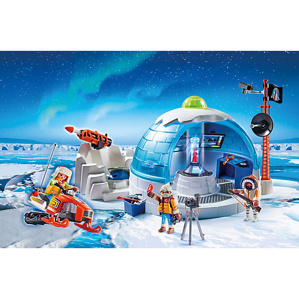 PLAYMOBIL® Конструктор Playmobil Штаб-квартира арктической экспедиции, 30 деталей фигурки игрушки playmobil супер4 принцесса леонора