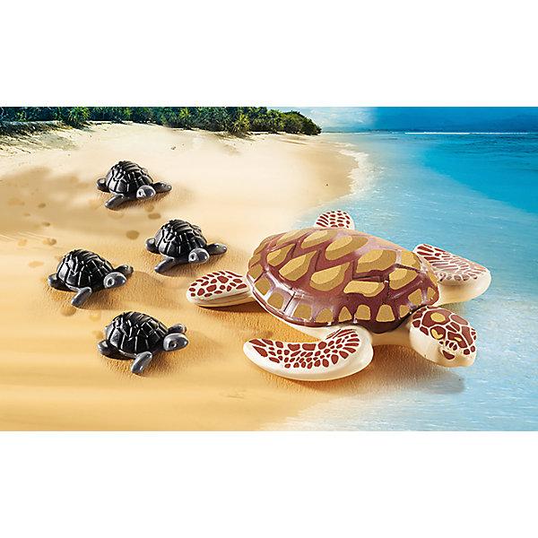 PLAYMOBIL® Игровой набор Playmobil Морская черепаха с детьми, 5 деталей