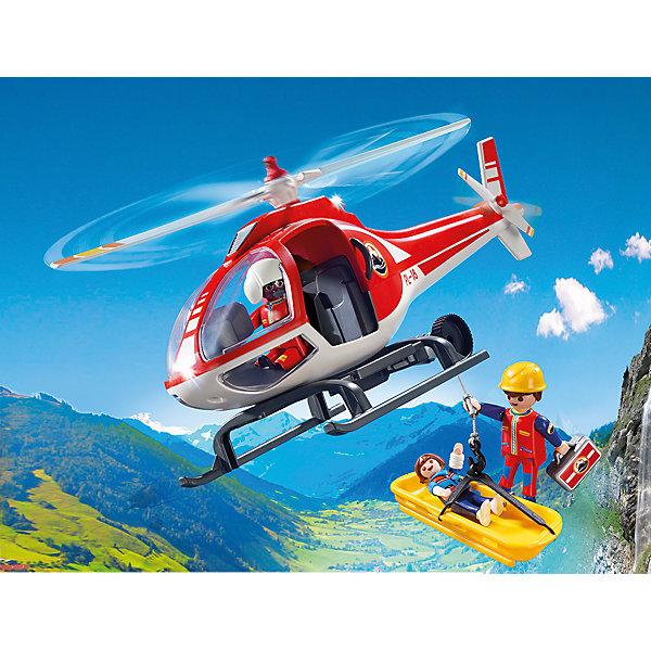 PLAYMOBIL® Конструктор Playmobil Вертолет горноспасателей, 6 деталей playmobil® детская клиника вертолет скорой помощи playmobil