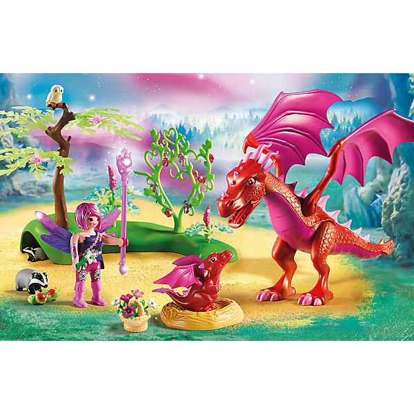 PLAYMOBIL® Конструктор Playmobil Дружелюбный дракон с ребенком, 20 деталей playmobil® детская клиника доктор с ребенком playmobil