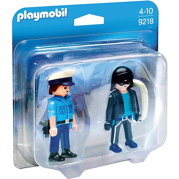 PLAYMOBIL® Конструктор Playmobil Полицейский и грабитель, 4 детали фигурки игрушки playmobil супер4 принцесса леонора