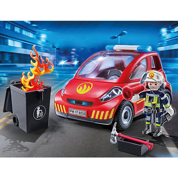 PLAYMOBIL® Конструктор Playmobil Пожарник с машиной, 12 деталей конструктор playmobil городской аэропорт операция по тушению пожара с водяным насосом 5397pm
