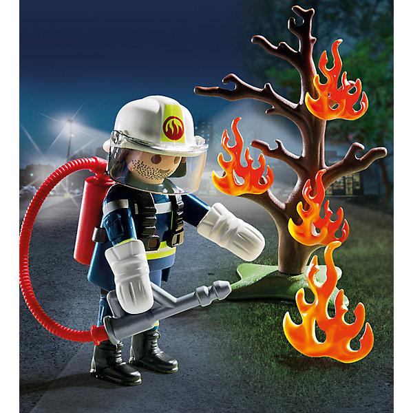 PLAYMOBIL® Набор Playmobil Пожарник с деревом playmobil® конструктор playmobil полиция блокпост полиции