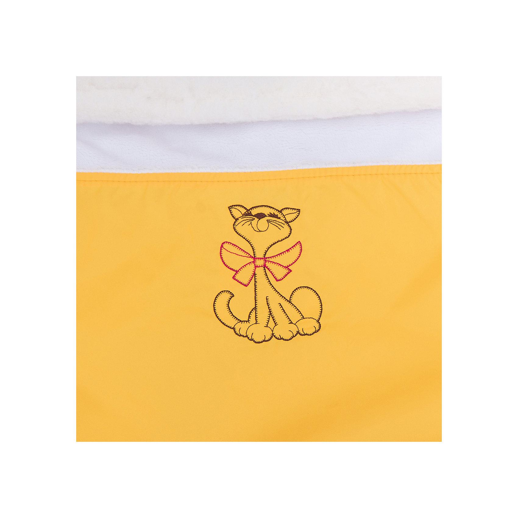 Меховой конверт Ладушка, Топотушки, жёлтый