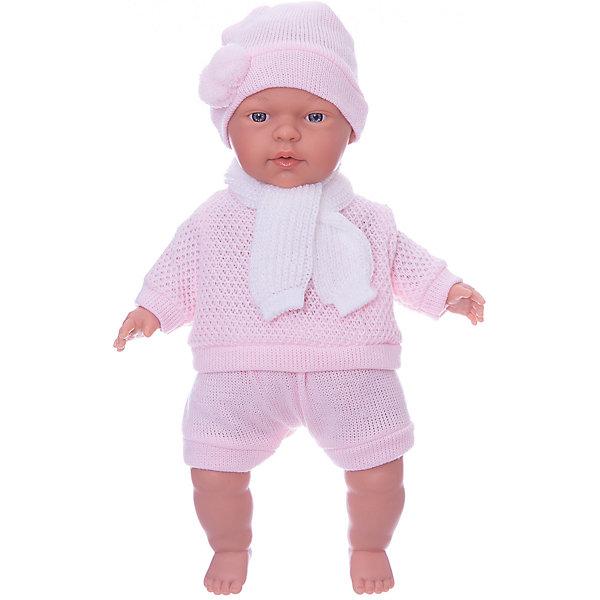 Кукла Люсия, 33 см, LlorensБренды кукол<br>Характеристики:<br><br>• Предназначение: для сюжетно-ролевых игр<br>• Тип куклы: мягконабивная<br>• Пол куклы: девочка <br>• Волосы: прорисованные<br>• Материал: поливинилхлорид, пластик, текстиль<br>• Цвет: розовый, белый<br>• Высота куклы: 33 см<br>• Комплектация: кукла, короткие шортики, свитер, шарфик, шапочка<br>• Вес: 660 г<br>• Размеры упаковки (Д*В*Ш): 20*37*10 см<br>• Упаковка: подарочная картонная коробка <br>• Особенности ухода: допускается деликатная стирка без использования красящих и отбеливающих средств предметов одежды куклы<br><br>Кукла Люсия 33 см без звука – кукла, производителем которого является всемирно известный испанский кукольный бренд Llorens. Куклы этой торговой марки имеют свою неповторимую внешность и целую линейку образов как пупсов, так и кукол-малышей. Игрушки выполнены из сочетания поливинилхлорида и пластика, что позволяет с высокой долей достоверности воссоздать физиологические и мимические особенности маленьких детей. При изготовлении кукол Llorens используются только сертифицированные материалы, безопасные и не вызывающие аллергических реакций. Волосы у кукол-пупсов прорисованные; ручки и ножки двигаются.<br>Кукла Люсия 33 см без звука выполнена в образе очаровательного малышки: голубые глазки и пухлые щечки создают невероятно очаровательный и милый образ. В комплект одежды Люсии входит костюмчик нежно-розового цвета, состоящий из вязаных шортиков, свитера, шапочки с помпоном и шарфика. <br>Кукла Люсия 33 см без звука – это идеальный вариант для подарка к различным праздникам и торжествам.<br><br>Куклу Люсию 33 см без звука можно купить в нашем интернет-магазине.<br>Ширина мм: 20; Глубина мм: 37; Высота мм: 10; Вес г: 660; Возраст от месяцев: 36; Возраст до месяцев: 84; Пол: Женский; Возраст: Детский; SKU: 5086901;