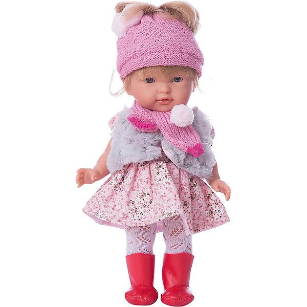 Кукла Валерия 28 см,, LlorensLlorens<br>Характеристики:<br><br>• Предназначение: для сюжетно-ролевых игр<br>• Тип куклы: мягконабивная<br>• Пол куклы: девочка <br>• Цвет волос: светло-русые<br>• Материал: поливинилхлорид, пластик, нейлон, текстиль<br>• Цвет: красный, розовый, белый, серый<br>• Высота куклы: 35 см<br>• Комплектация: кукла, платье, шапка, шарф, колготки, туфли<br>• Вес: 950 г<br>• Размеры упаковки (Д*В*Ш): 22*43*10 см<br>• Упаковка: подарочная картонная коробка <br>• Особенности ухода: допускается деликатная стирка без использования красящих и отбеливающих средств предметов одежды куклы<br><br>Кукла Елена 35 см – кукла, производителем которого является всемирно известный испанский кукольный бренд Llorens. Куклы этой торговой марки имеют свою неповторимую внешность и целую линейку образов как пупсов, так и кукол-малышей. Игрушки выполнены из сочетания поливинилхлорида и пластика, что позволяет с высокой долей достоверности воссоздать физиологические и мимические особенности маленьких детей. При изготовлении кукол Llorens используются только сертифицированные материалы, безопасные и не вызывающие аллергических реакций. Волосы у кукол отличаются густотой, шелковистостью и блеском, при расчесывании они не выпадают и не ломаются.<br>Кукла Елена 35 см выполнена в образе девочки: у нее прямые длинные волосы и голубые глаза. Комплект одежды состоит из теплого вязаного платья с длинными рукавами, розовых колготочек, шапки и шарфа. На ножках у Валерии – черные туфельки. <br>Кукла Елена 35 см – это идеальный вариант для подарка к различным праздникам и торжествам.<br><br>Куклу Елену 35 см можно купить в нашем интернет-магазине.<br>Ширина мм: 20; Глубина мм: 37; Высота мм: 10; Вес г: 660; Возраст от месяцев: 36; Возраст до месяцев: 84; Пол: Женский; Возраст: Детский; SKU: 5086942;