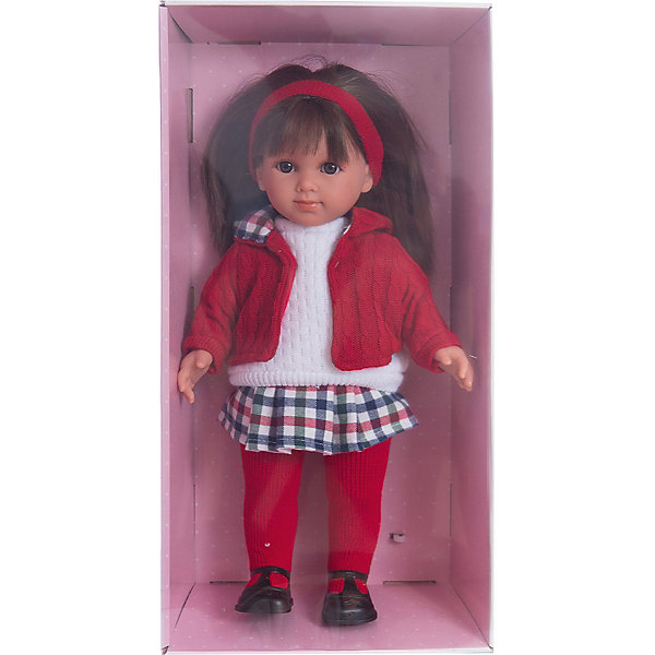 Кукла Елена, 35 см, LlorensКуклы и аксессуары<br>Характеристики:<br><br>• Предназначение: для сюжетно-ролевых игр<br>• Тип куклы: мягконабивная<br>• Пол куклы: девочка <br>• Цвет волос: темно-русые<br>• Материал: поливинилхлорид, пластик, нейлон, текстиль<br>• Цвет: красный, белый, черный<br>• Высота куклы: 35 см<br>• Комплектация: кукла, юбка, свитер, курточка, колготки, туфли<br>• Вес: 950 г<br>• Размеры упаковки (Д*В*Ш): 22*43*10 см<br>• Упаковка: подарочная картонная коробка <br>• Особенности ухода: допускается деликатная стирка без использования красящих и отбеливающих средств предметов одежды куклы<br><br>Кукла Елена 35 см – кукла, производителем которого является всемирно известный испанский кукольный бренд Llorens. Куклы этой торговой марки имеют свою неповторимую внешность и целую линейку образов как пупсов, так и кукол-малышей. Игрушки выполнены из сочетания поливинилхлорида и пластика, что позволяет с высокой долей достоверности воссоздать физиологические и мимические особенности маленьких детей. При изготовлении кукол Llorens используются только сертифицированные материалы, безопасные и не вызывающие аллергических реакций. Волосы у кукол отличаются густотой, шелковистостью и блеском, при расчесывании они не выпадают и не ломаются.<br>Кукла Елена 35 см выполнена в образе девочки: у нее карие глаза и прямые длинные волосы, придерживаемые красной атласной лентой. Комплект теплой одежды состоит из вязаного белого свитера, клетчатой юбки, красной курточки и колготочек. На ножках у Елены – черные туфельки с ремешками. <br>Кукла Елена 35 см – это идеальный вариант для подарка к различным праздникам и торжествам.<br><br>Куклу Елену 35 см можно купить в нашем интернет-магазине.<br>Ширина мм: 22; Глубина мм: 43; Высота мм: 10; Вес г: 950; Возраст от месяцев: 36; Возраст до месяцев: 84; Пол: Женский; Возраст: Детский; SKU: 5086944;