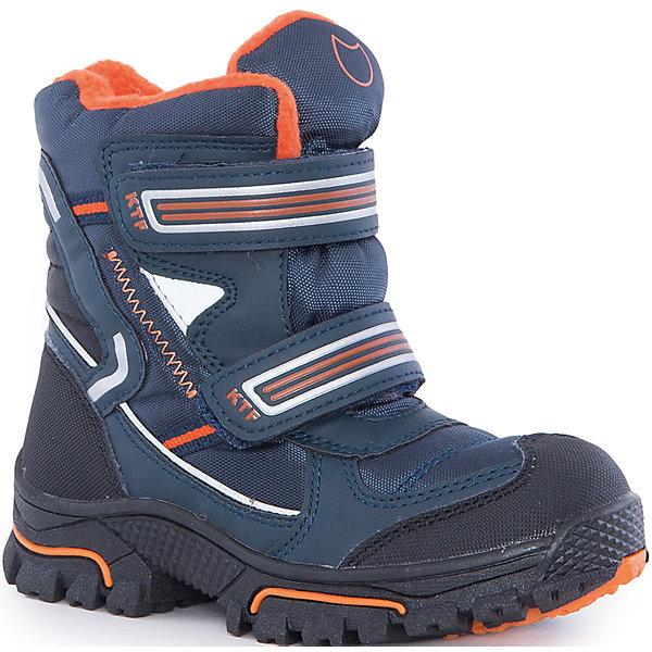 Ботинки  для мальчика КотофейБотинки<br>Ботинки  для мальчика Котофей.<br><br>Характеристики:<br><br>- Внешний материал: искусственная кожа, текстиль<br>- Внутренний материал: мех шерстяной<br>- Материал стельки: войлок<br>- Подошва: ТЭП<br>- Тип застежки: липучки<br>- Вид крепления обуви: литьевой<br>- Температурный режим до -20С<br>- Цвет: синий, оранжевый<br>- Сезон: зима<br>- Пол: для мальчиков<br><br>Зимние ботинки торговой марки Котофей обеспечат вашему мальчику максимальный комфорт. Верх ботинок выполнен из комбинированных материалов со специальным износостойким и водостойким мембранным материалом, что позволит ножке всегда оставаться сухой. Подкладка - из натуральной шерсти, имеется дополнительная стелька из войлока, поэтому ножке в такой обуви тепло и уютно. Гибкая, широкая, литьевая подошва с рельефным протектором обеспечит превосходное сцепление с поверхностью, не скользит. Она выполнена из термоэластопласта (ТЭП) – пластичного материала, отлично амортизирующего при шаге и не теряющего своих свойств при понижении температур. Мыс надежно защищен от царапин промокания прорезиненным материалом. Два ремня с липучками позволяют не только быстро обувать и снимать ботинки, но и обеспечивают плотное прилегание обуви к стопе. Детская обувь «Котофей» качественна, красива, добротна, комфортна и долговечна. Она производится на Егорьевской обувной фабрике. Жесткий контроль производства и постоянное совершенствование технологий при многолетнем опыте позволяют считать компанию одним из лидеров среди отечественных производителей детской обуви.<br><br>Ботинки  для мальчика Котофей можно купить в нашем интернет-магазине.<br>Ширина мм: 262; Глубина мм: 176; Высота мм: 97; Вес г: 427; Цвет: белый; Возраст от месяцев: 48; Возраст до месяцев: 60; Пол: Мужской; Возраст: Детский; Размер: 28,35,34,33,32,31,30,29; SKU: 5087271;