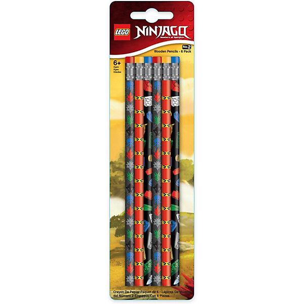 LEGO Набор карандашей (6 шт.) LEGO Ninjago lego ninjago набор ластиков kai nya 2 шт 51876
