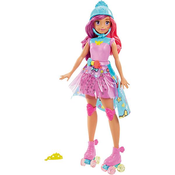 Кукла «Повтори цвета» из серии «Barbie и виртуальный мир»Бренды кукол<br>Характеристики:<br><br>• возраст: от 3 лет;<br>• материал: пластмасса, текстиль;<br>• тип батареек: 3хAG13/LR44;<br>• наличие батареек: в комплекте;<br>• высота куклы: 29 см;<br>• вес упаковки: 350 гр.;<br>• размер упаковки: 23х6х32,5 см;<br>• страна бренда: США.<br><br>Кукла Barbie «Повтори цвета» обладает интерактивными способностями. Юбка куклы светится разными цветами в определенной последовательности. Девочке нужно повторить этот порядок, нажимая цветные кнопочки на поясе барби.<br><br>Игрушка одета для прогулки на роликах, на ней вся экипировка от шлема до наколенников и коньков. Ролики светятся при движении.<br><br>Кукла имеет подвижные части тела. Двухцветные волосы можно расчесывать и собирать в разные прически. Игрушка выполнена из качественных безопасных материалов.<br><br>Куклу «Повтори цвета» из серии «Barbie и виртуальный мир» можно купить в нашем интернет-магазине.<br>Ширина мм: 327; Глубина мм: 228; Высота мм: 63; Вес г: 349; Возраст от месяцев: 36; Возраст до месяцев: 72; Пол: Женский; Возраст: Детский; SKU: 5089096;