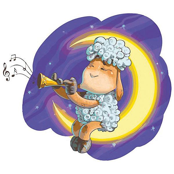 Белоснежка Живопись на холсте 30*40 см Овечка на Луне наборы для рисования белоснежка живопись на холсте размер 30х40 см весёлые зайцы 774 as