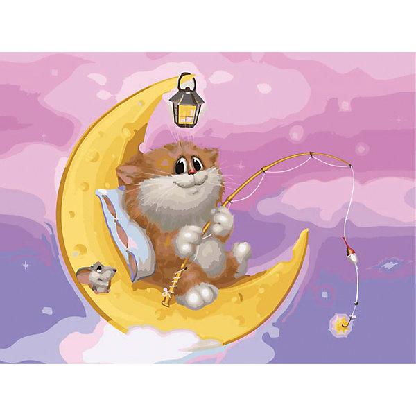 Белоснежка Живопись на холсте 30*40 см Котик на Луне белоснежка живопись на картоне 30 40 см обожание