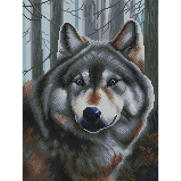 Белоснежка Алмазная мозаика Белоснежка «Волк», 40х30 см
